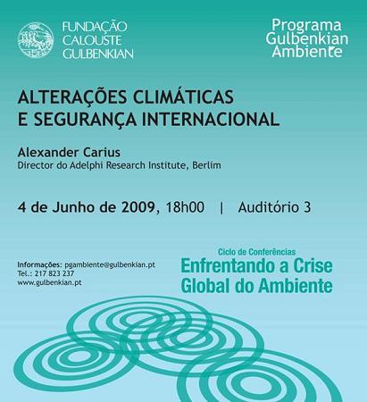 Alterações Climáticas e Segurança Internacional