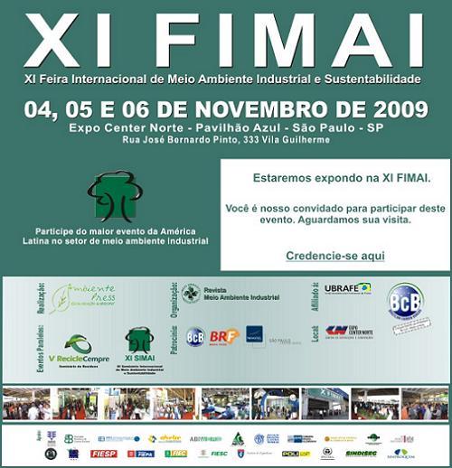 XI Feira Internacional de Meio Ambiente Industrial e Sustentabilidade (XI FIMAI)