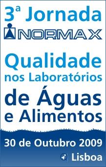 3.ª Jornada Normax - Qualidade nos Laboratórios de Águas e Alimentos