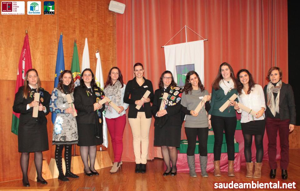 Licenciados em Saúde Ambiental (2012/2013) no Dia da ESTeSL