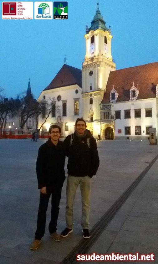 Gil novo e Jorge Silva em mobilidade ERASMUS + na Slovak Medical University em Bratislavia (Eslováquia)