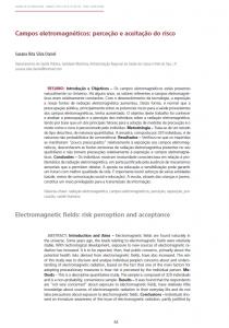 Campos eletromagnéticos: perceção e aceitação do risco