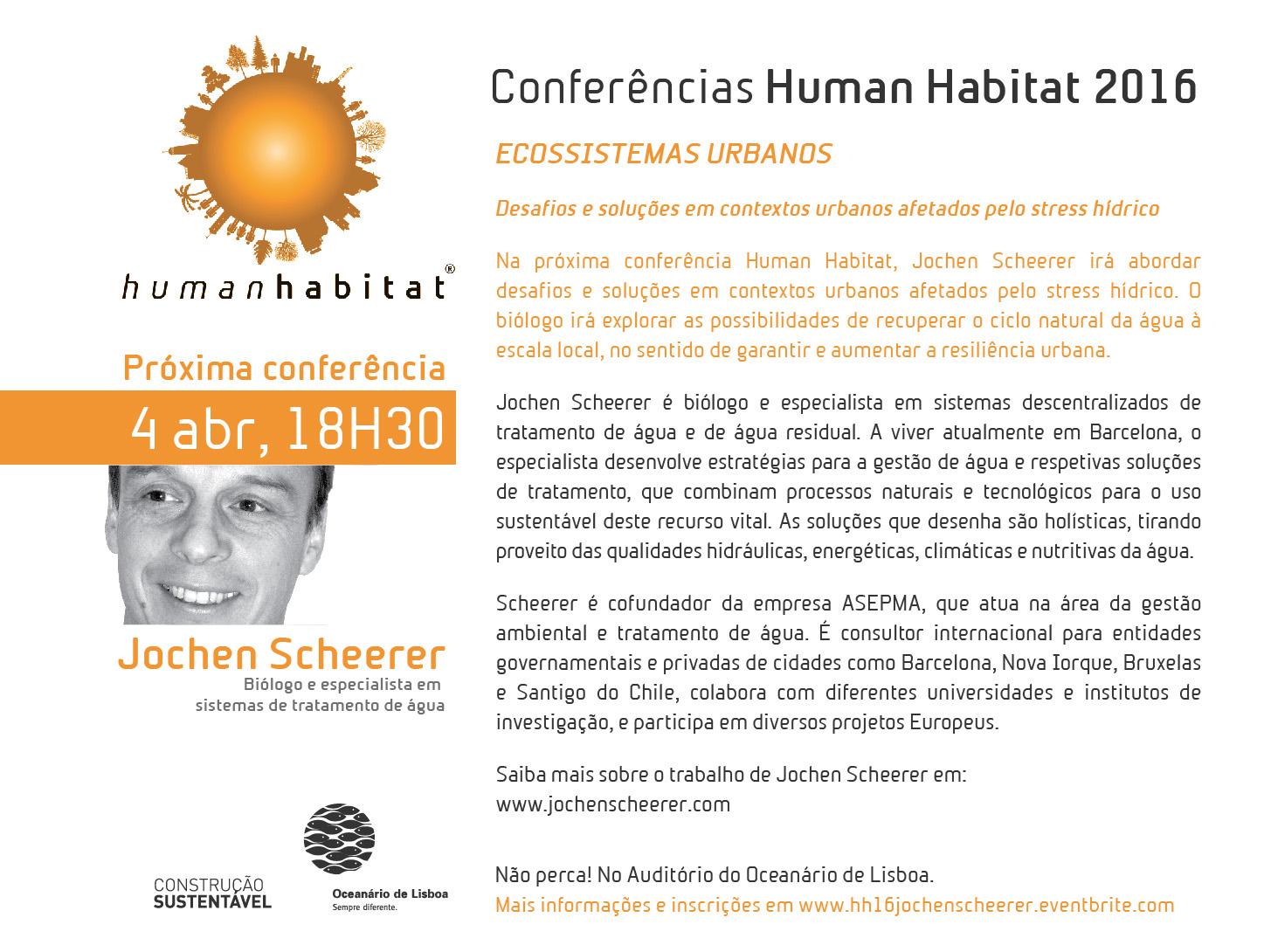 "Conferências ""Ecossistemas Urbanos"" (Human Habitat)"