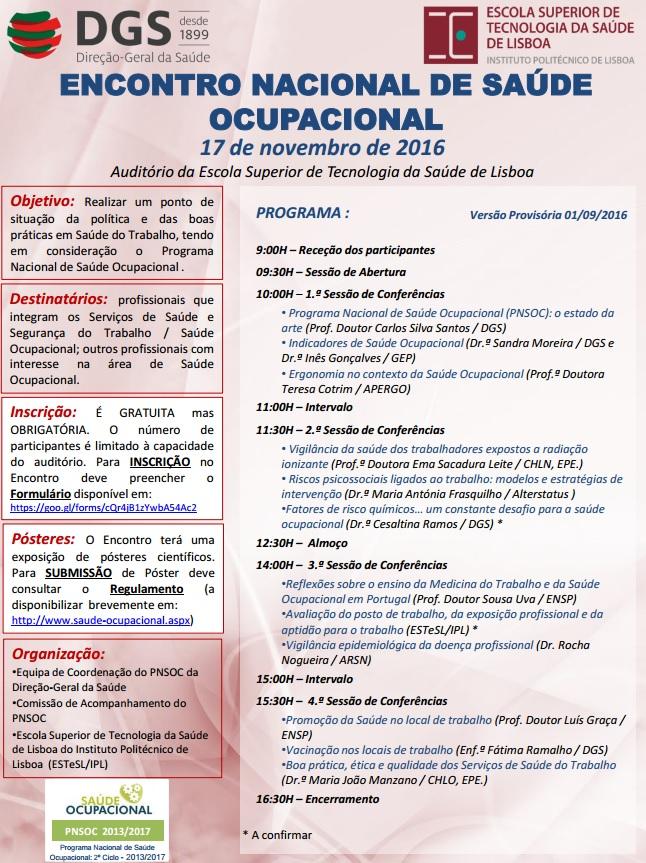 Encontro Nacional de Saúde Ocupacional