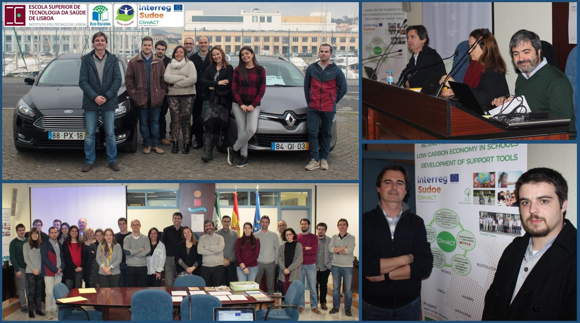 Saúde Ambiental da ESTeSL participa em reunião internacional do projeto Interreg Sudoe ClimACT