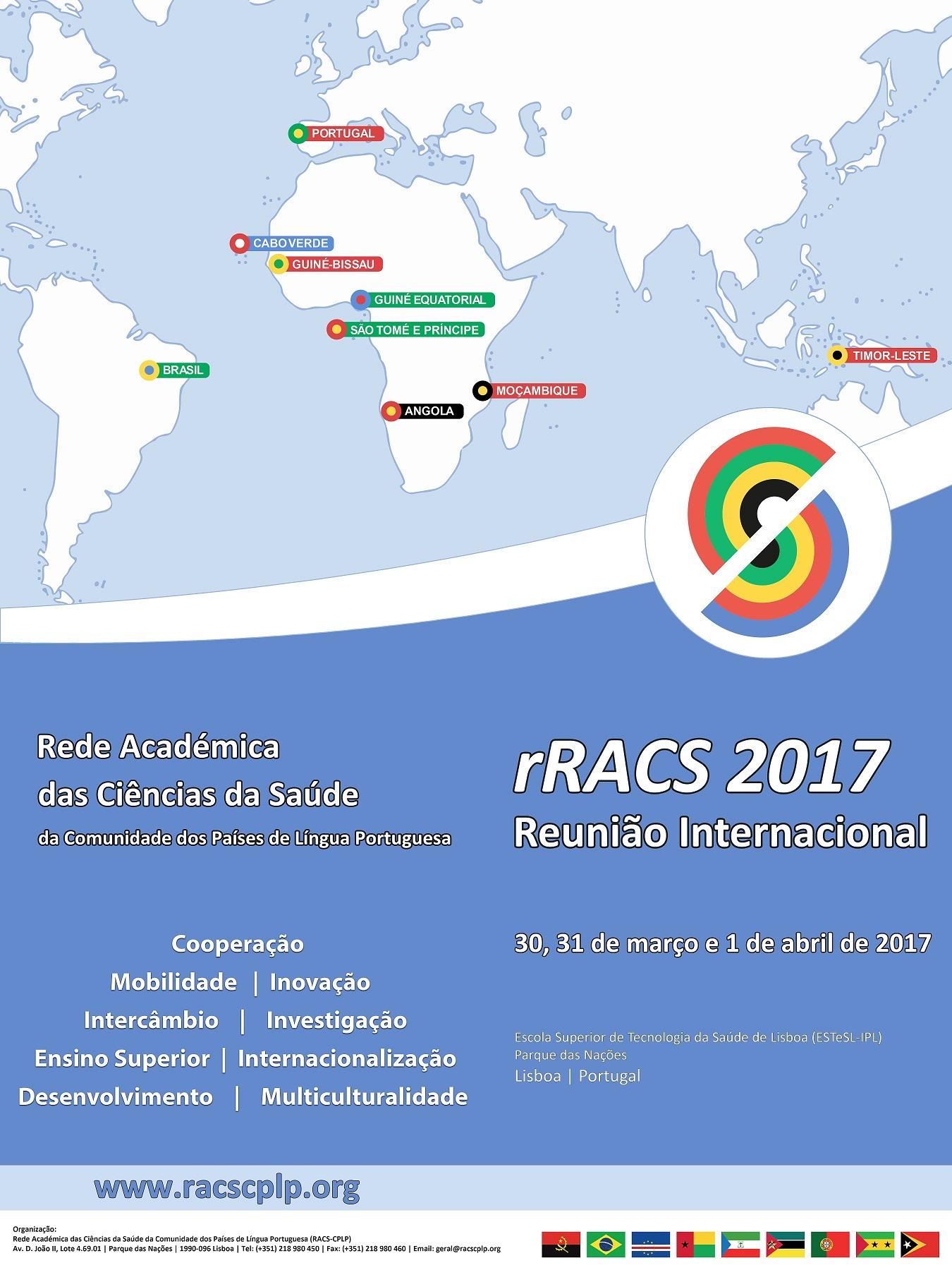 Reunião Internacional da Rede Académica das Ciências da Saúde da CPLP (rRACS 2017)