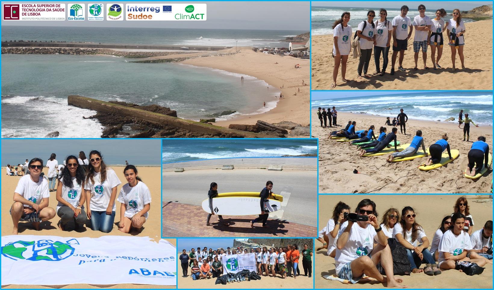 Saúde Ambiental da ESTeSL na Missão Litter Less (Ericeira, Portugal)